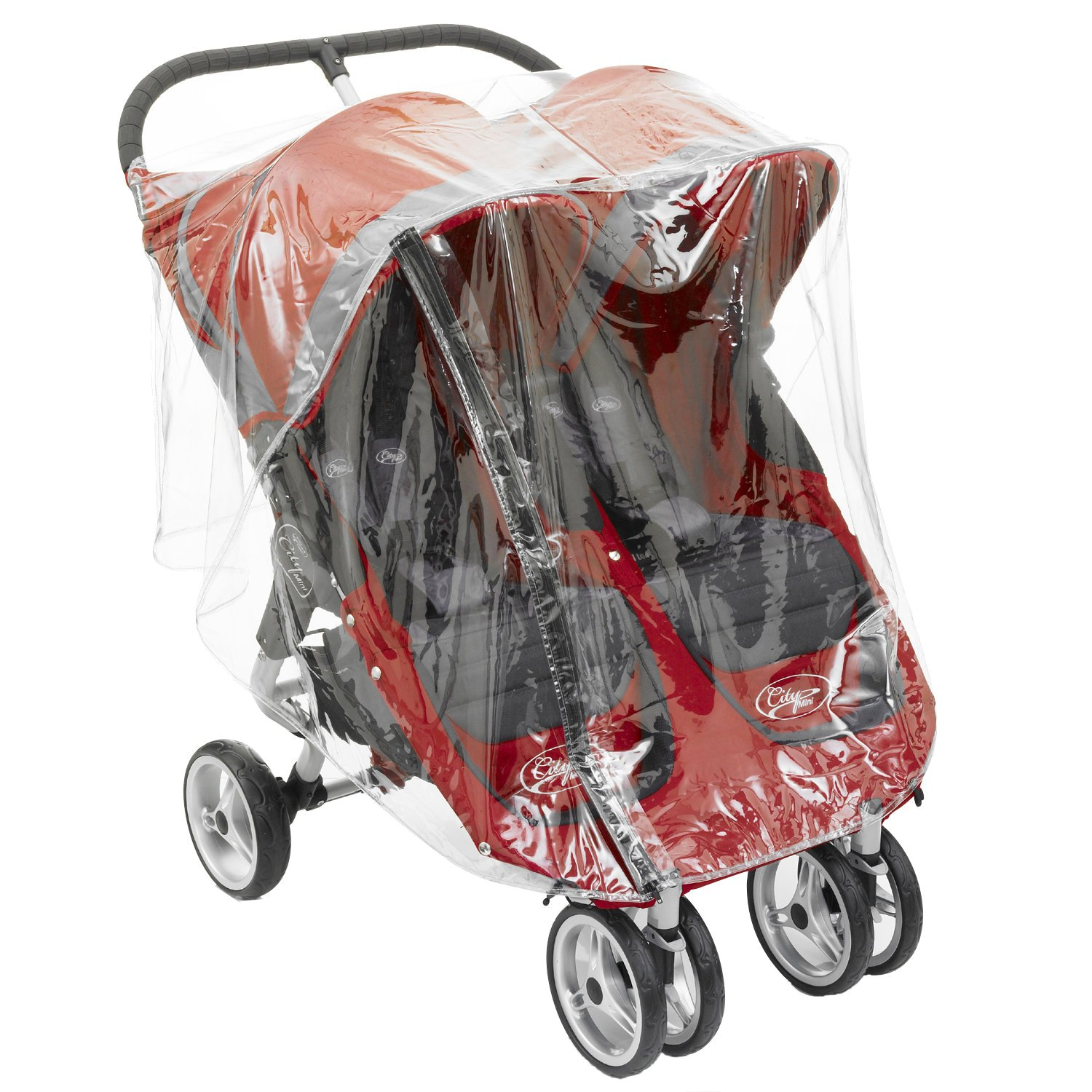 Twin Raincover For Baby Jogger Mini And GT Double By Baby Travel Baby Travel® Baby Jogger Twin Type RC