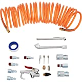 Amazon Basics 1/4-Inch NPT Air Compressor Tool Kit with Hose and Accessories - 20-Piece