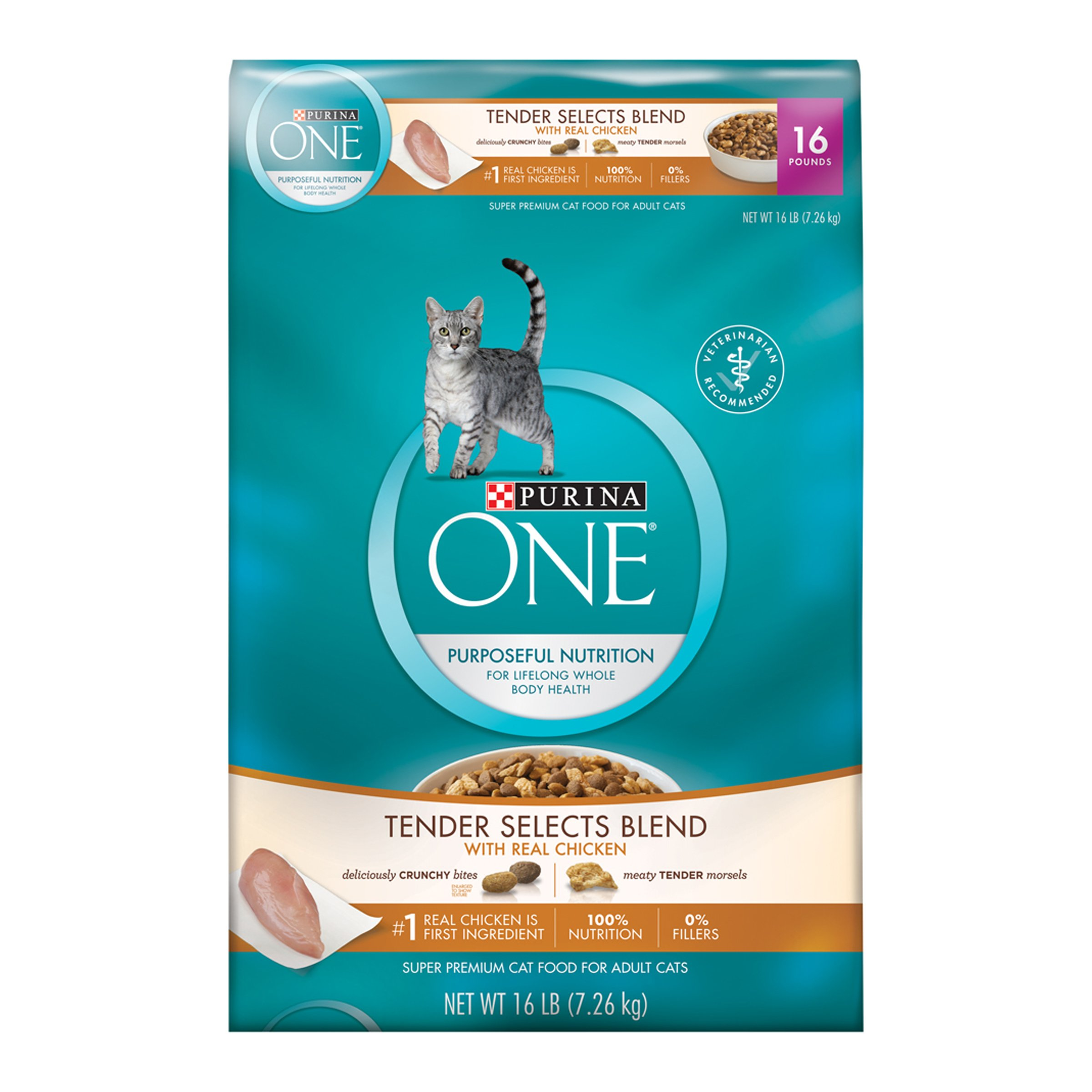 Purina ONE Tender Selects Blend With Real Chicken Dry Cat Food 16 lb. Bag
