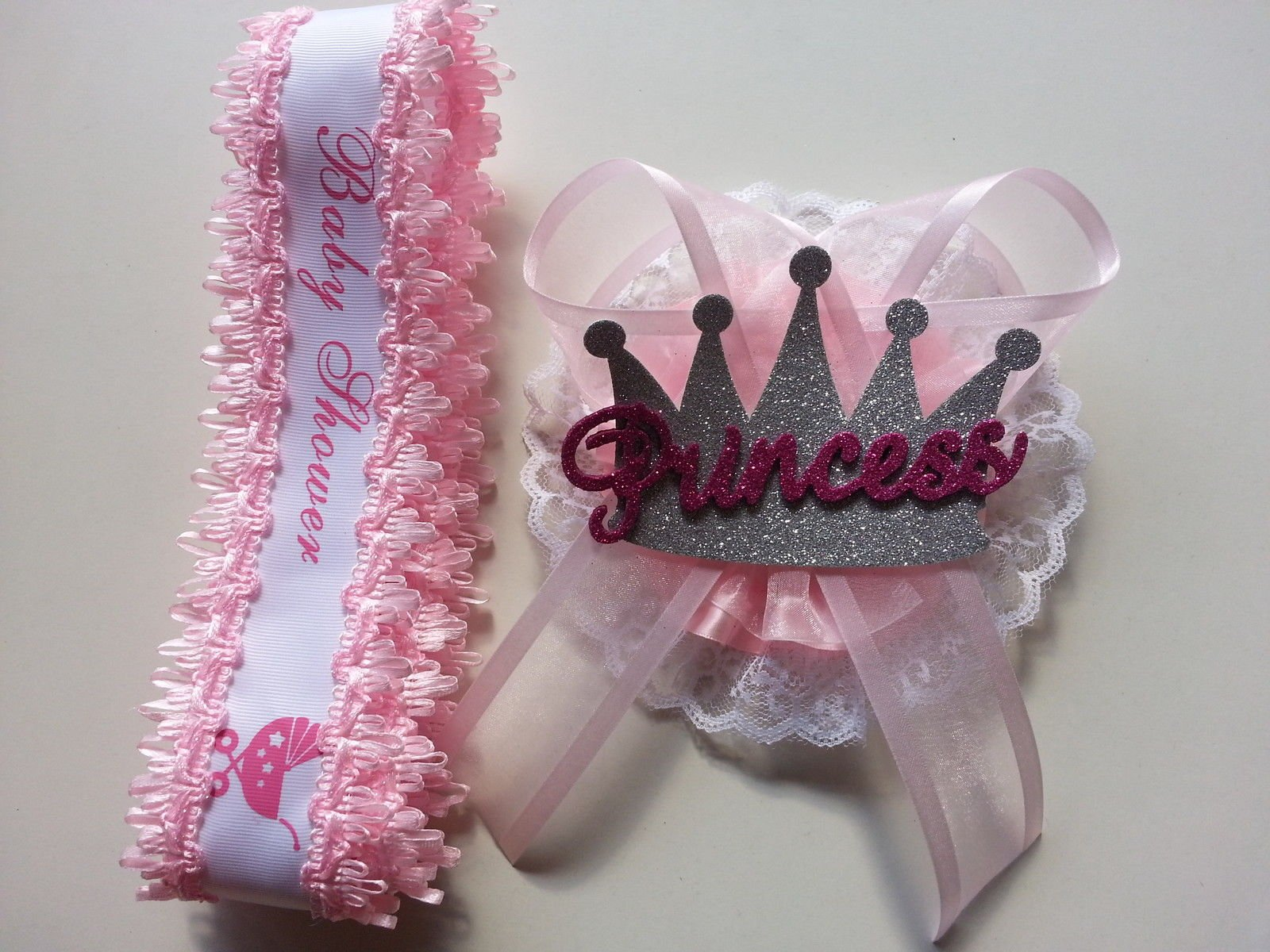 Baby Shower Mom To Be It's a Girl Sash with Princess Crown Pink Ribbon Corsage by PRODUCT 789 (Image #2)