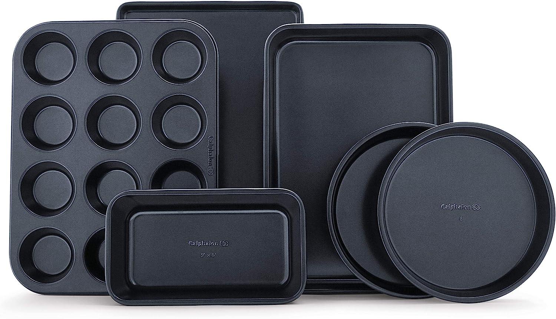 Calphalon Nonstick Bakeware Set, 6-Pieces, 6-pc: Baking Pans: Kitchen & Dining
