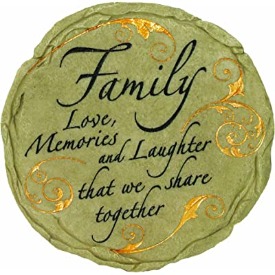 Spoontiques Family Stepping Stone : Outdoor Decorative Stones : Garden & Outdoor