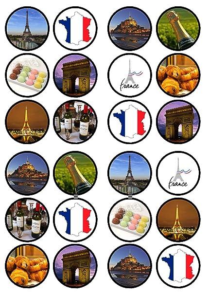 Amazon Com French Paris Theme Edible Premium Thickness Sweetened