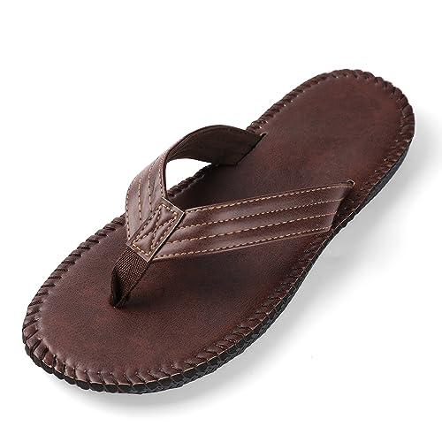 a62864ba512d74 Aerusi Unisex Moisture Wicking Thongs Flip Flop Open Toe Summer Classic  Non-Slip Slippers Sandals