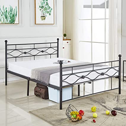 b2732ced6aa67b Amazon.com: Tribecca Homes Metro Shop Leann Graceful Scroll Bronze Iron  Queen-Sized Bed: Kitchen & Dining