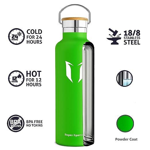 Amazon.com: Super Sparrow - Botella de agua aislada al vacío ...