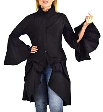 c20ce8e17fd Dare2bStylish Women Western High Low Dress Shirt Blouse w  Edwardian ...