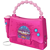 Kids Karaoke Machine for Girls - Little Rock Star Music Player - 10 Programmed Songs - iPod Holder - AUX Cable and…