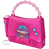 Kids Karaoke Machine for Girls - Little Rock Star Music Player - 10 Programmed Songs - iPod Holder - AUX Cable and Batteries Included