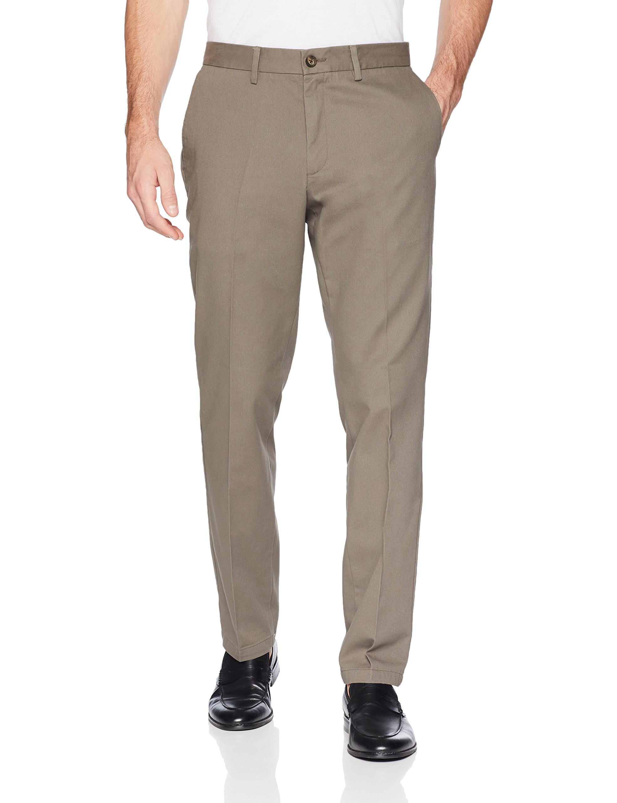 Amazon Essentials Men's Slim-Fit Wrinkle-Resistant Flat-Front Chino Pant, Taupe, 32W x 32L by Amazon Essentials