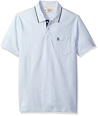 Amazon.com  Original Penguin Men s Jaspe Fashion Meal 3 Button Polo ... a4675cf940094