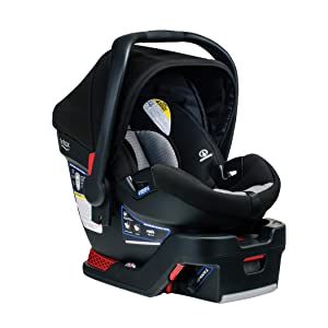 Britax B-Safe 35 Infant Car Seat - 1 Layer Impact Protection - Moisture Wicking and Ventilating Fabric, Dual Comfort Grey