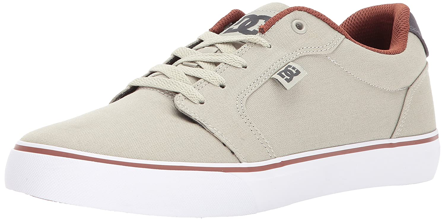 DC Men's Anvil TX Skate Shoe 6.5 D(M) US|Taupe/Stone