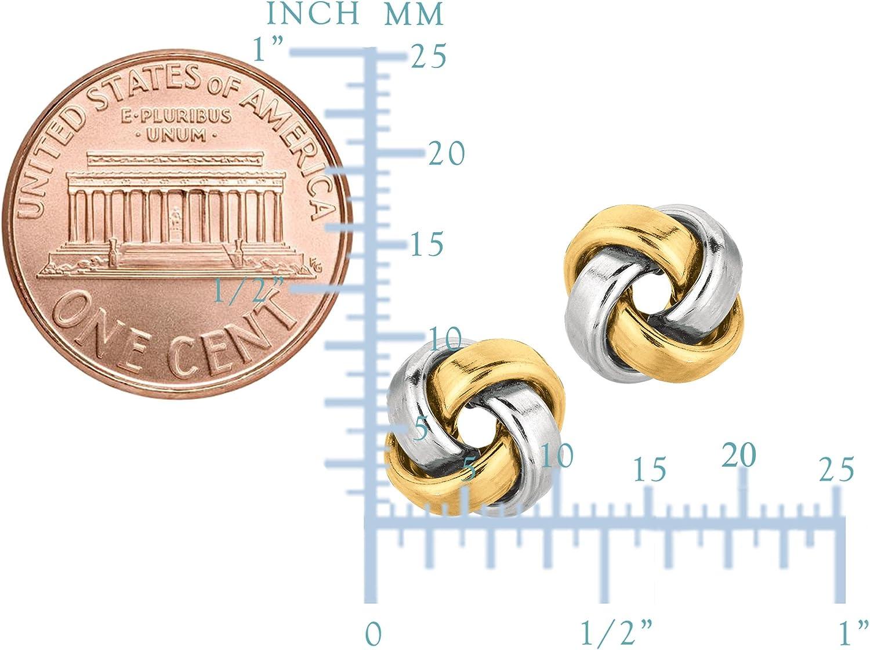 Round White Diamond Women 14K White Gold Finish Charm Stud Earrings Push Back SJ