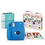 Fujifilm Paq Instax Love Mini 9 Películas y Álbum, color Azul Cobalto, Paquete de 20