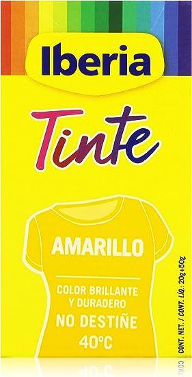 Iberia - Tinte Amarillo para ropa, 40°C