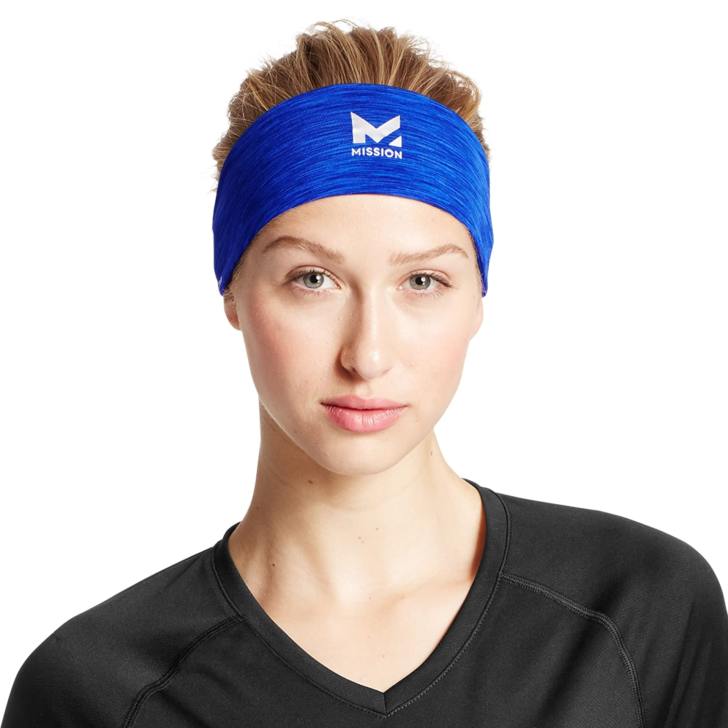 Mission VaporActive Cooling Lockdown Headband Graffiti Multi High Vis Coral One Size Mission Athlete Care 109059-P