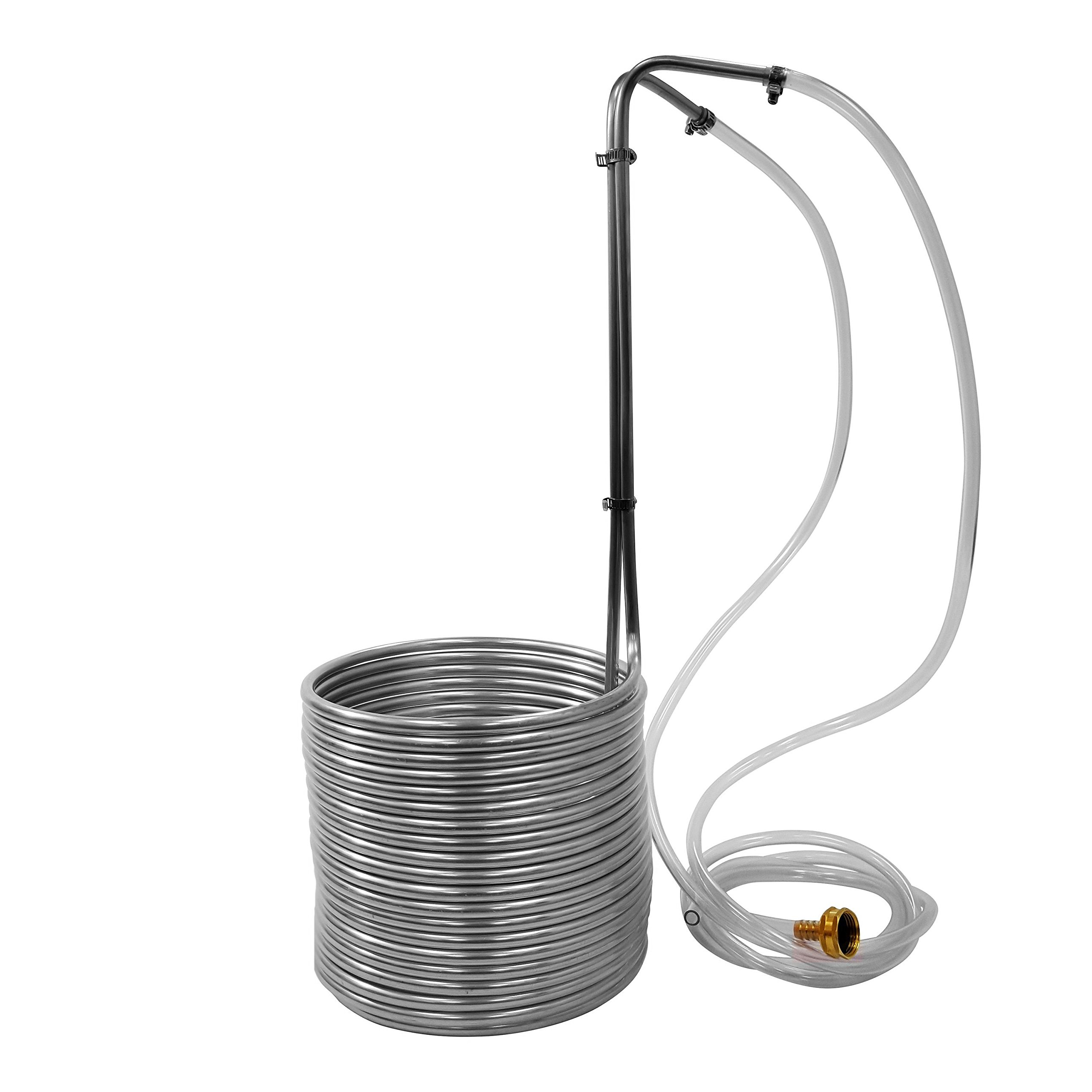 NY Brew Supply W3850-SSV 3/8'' x 50' Stainless Steel Wort Chiller, Silver by NY Brew Supply