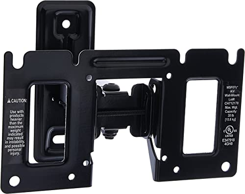 Sanus Full Motion TV Wall Mount for 13 -32 LED, LCD and Plasma Flat Screen TVs and Monitors – Extends 7 Inches – MSF07C-B1