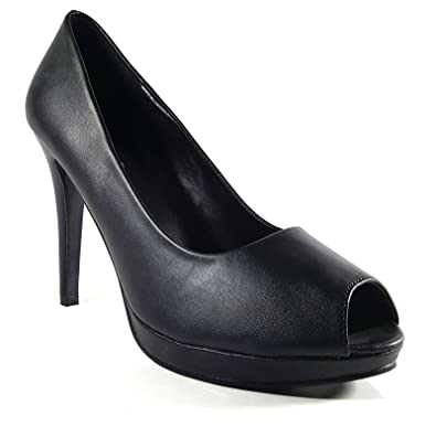 b74051c9b22 (BS12926) - New Mens Womens Drag Queen Cross Dresser HIGH Heel PEEP Toe  Court Shoes Big Sizes UK 9,10,11,12