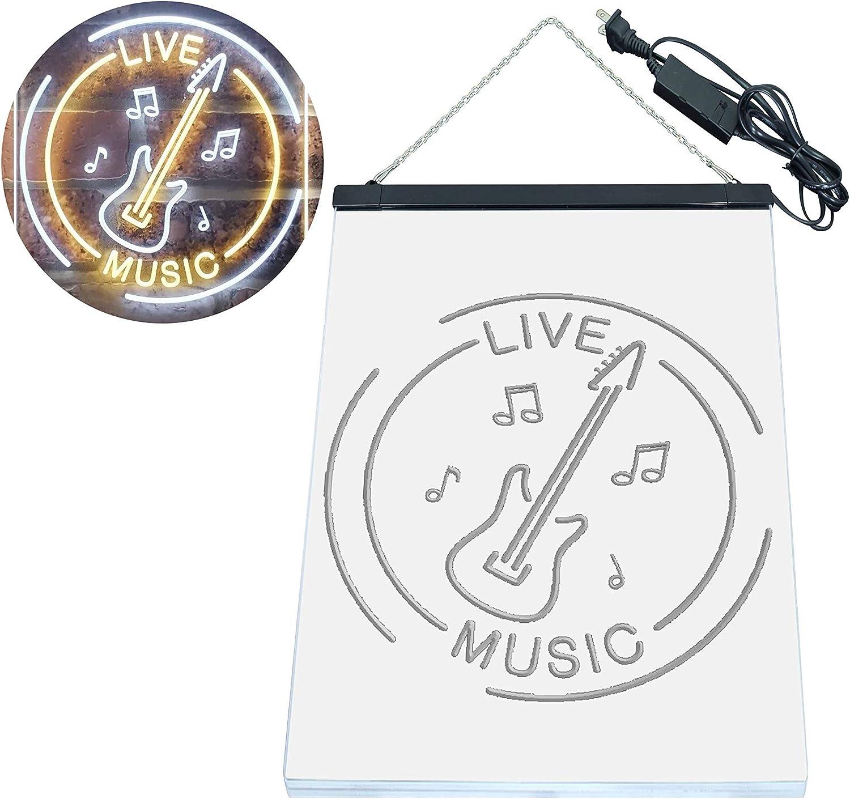 ADV PRO Guitar Live Music Acoustic Room Dual Color LED Barlicht Neonlicht Lichtwerbung Neon Sign Blau /& Gelb 210 x 300mm st6s23-i3215-by