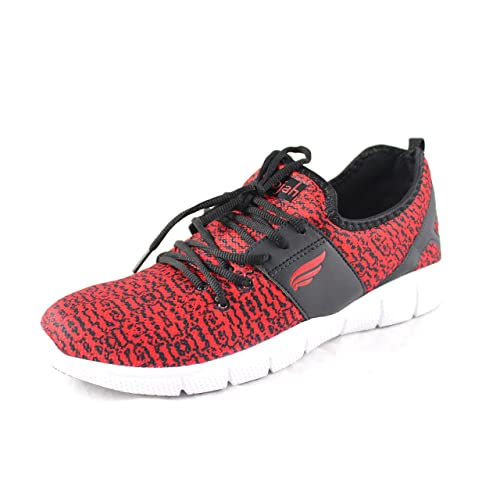989dd3e1a061d5 Mmojah Mens Vibrant IC Red Black Lifestyle Shoes -6  Buy Online at Low  Prices in India - Amazon.in