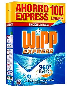 Wipp Express Detergente en Polvo - 100 Lavados (6,2 Kg): Amazon.es: Amazon Pantry