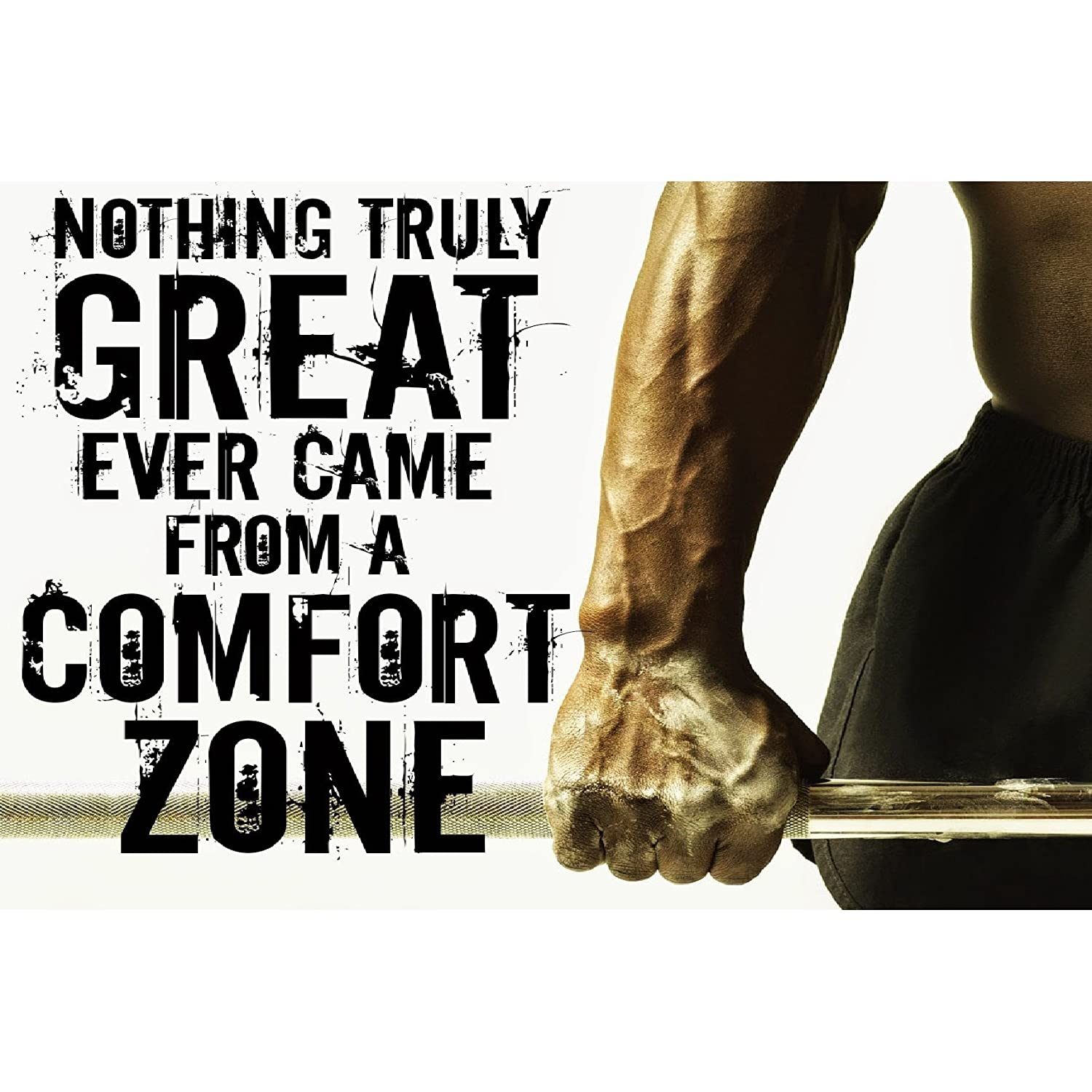 Printelligent gym inspirational quote poster