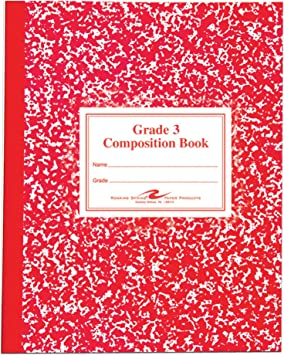 ROA77922 Grade 3 Ruled 50 Sheets Roaring Spring Paper Products Composition Book 9-3//4 x 7-3//4 Inches Red