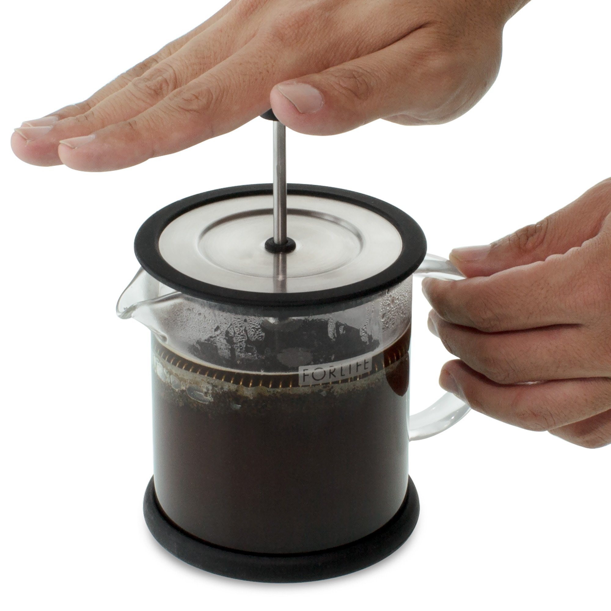 FORLIFE Cafe Style Glass Coffee/Tea Press, 16-Ounce, Black by FORLIFE (Image #4)