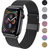 GBPOOT Compatible for Apple Watch Band 38mm 40mm 42mm 44mm, Wristband Loop Replacement Band for Iwatch Series 5,Series 4,Series 3,Series 2,Series 1,Black,38mm/40mm
