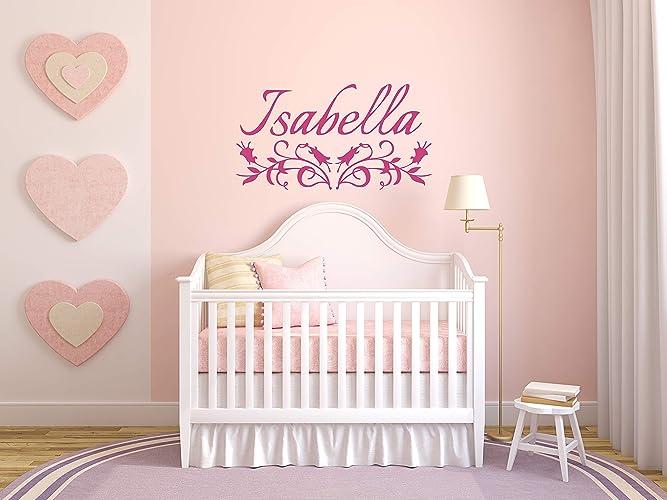 Amazoncom Vinyl Sticker Isabella Name Girl Font Type Kids Room
