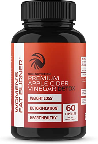 Nobi Nutrition Apple Cider Vinegar Fat Burner Pills for Women – Premium Weight Loss Supplement – Womens Metabolism Booster Appetite Suppressant – Thermogenic Diet Pills – 60 Veggie Capsules