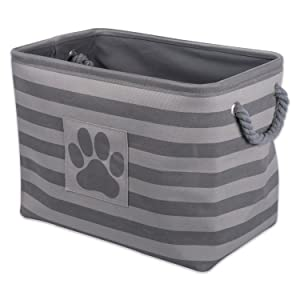 "DII Bone Dry Small Round Pet Toy and Accessory Storage Bin, 12""(Dia) x9(H), Collapsible Organizer Storage Basket for Home Décor"