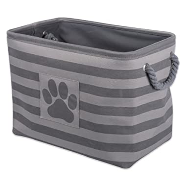 Bone Dry DII Pet Toy and Accessory Storage Bin, Collapsible Organizer Storage Basket for Home Décor, Pet Toy, Blankets, Leashes and Food