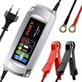 Autobatterie Ladegerät Batterieladegerät INTEY 6/12 V 5A Batterie Ladegerät für Motorrad und KFZ Batterien-Winter Batterieschutz