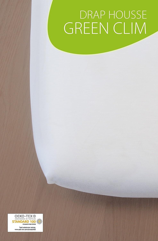 Kadolis Drap Housse Green CLIM Berceau//Landau Blanc 40 x 90 cm