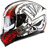 """IV2 Falcon 967 - """"SPEED DEMON"""" High Performance Dual Visor, Full Face Street Motorcycle Helmet with Retractable Sun Shield [DOT Compliant] - Large"""