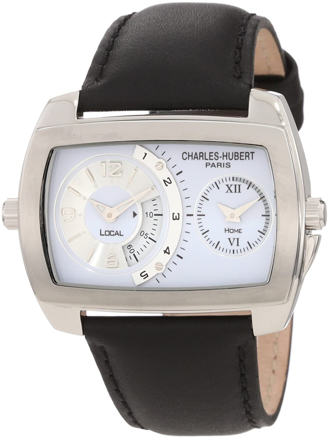 Stainless Steel Case Dual Time Quartz Armbanduhr