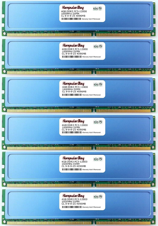 Komputerbay ddr3 6x4gb 24gb 1600 Mémoire Kb Ram hs UrqtwxrE