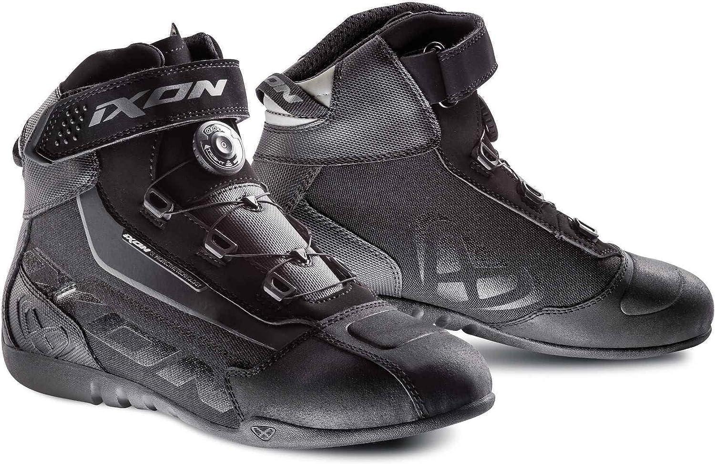 Botas de Moto IXON Assault EVO Negro//Blanco//Amarillo Vivo Negro//Blanco//Fluorescente 44