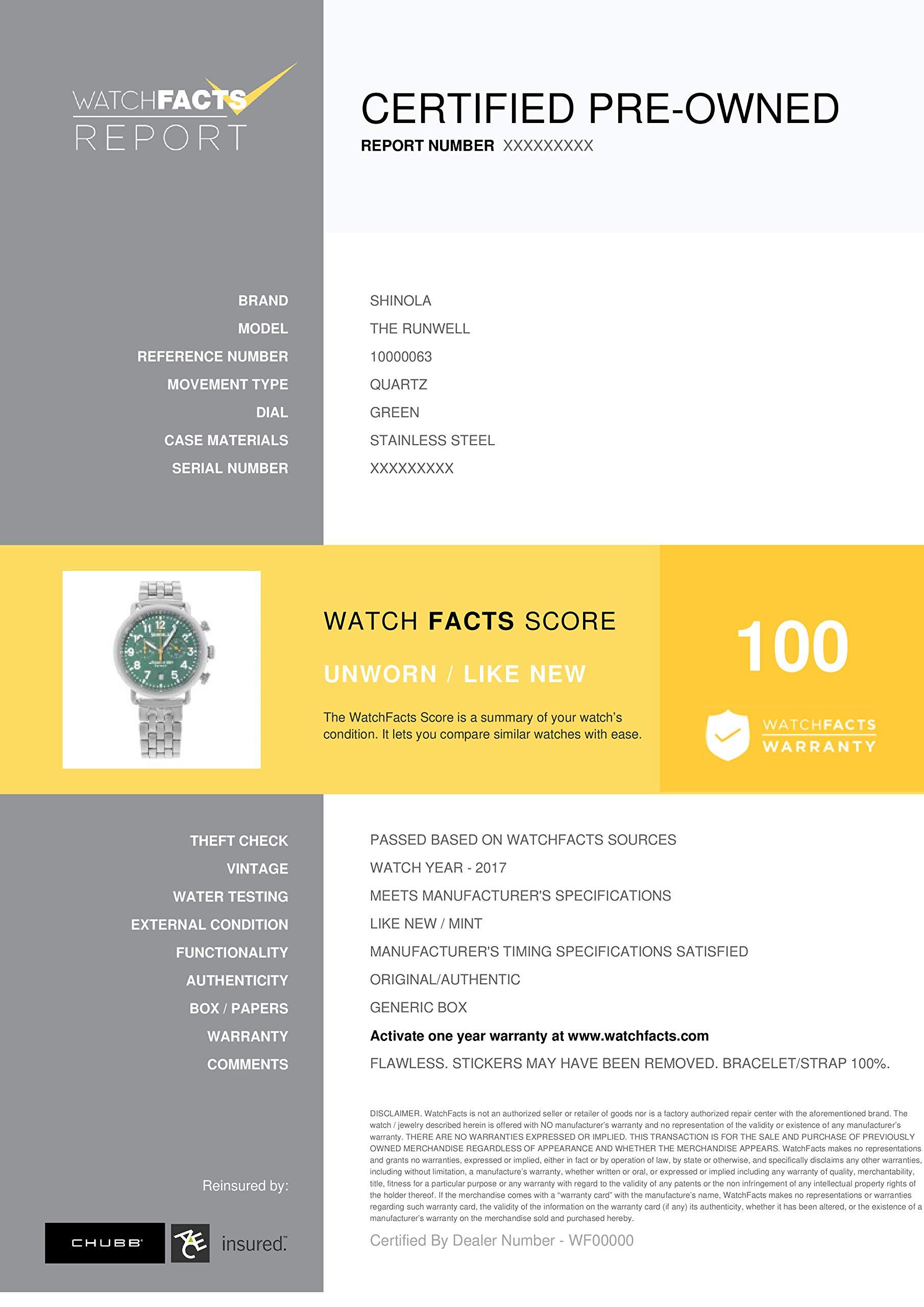 Shinola The Runwell Quartz Male Watch 10000063 (Certified Pre-Owned) by Shinola (Image #6)