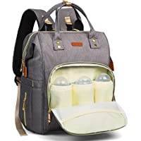 HOMIEE Diaper Bag Backpack Water-Resistant Maternity Nappy Bag Tote for Mommy and Dad Multi-Functional Travel Backpack with USB Charging Port Storller Strap Thermal Pockets, Anti-Theft Backpack