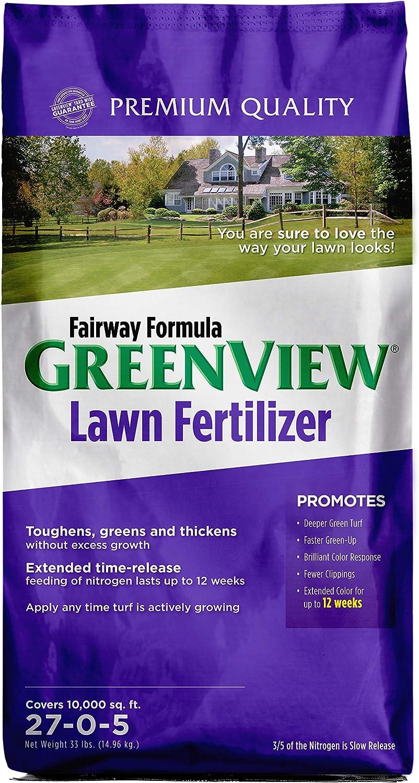 GreenView 2129270 Fairway Formula Lawn Fertilizer - 33 lb. - Covers 10,000 sq. ft.