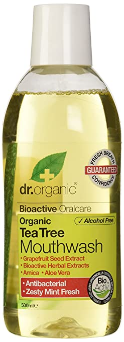 10 opinioni per Dr.Organic Tea Tree Collutorio 500 ml