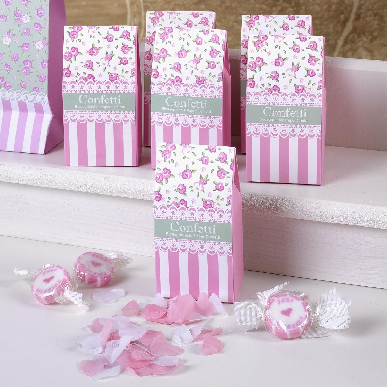 Amazon.com: \'Frills & Spills\' Pink Wedding Confetti - Biodegradable ...