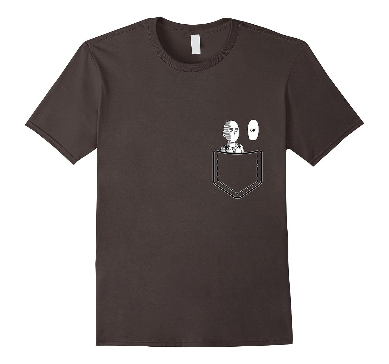 Haven4Anime: Fun Saitama One Punching Man Pocket OK T Shirt-BN