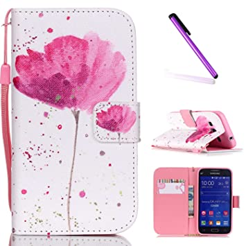 quality design e52c1 72848 Samsung Galaxy Core Prime Case,Galaxy Core Prime G360 Case,Flip Case for  Galaxy Core Prime SM-G360F,EMAXELERS Cool Skull Flower Painted Pattern Flip  ...
