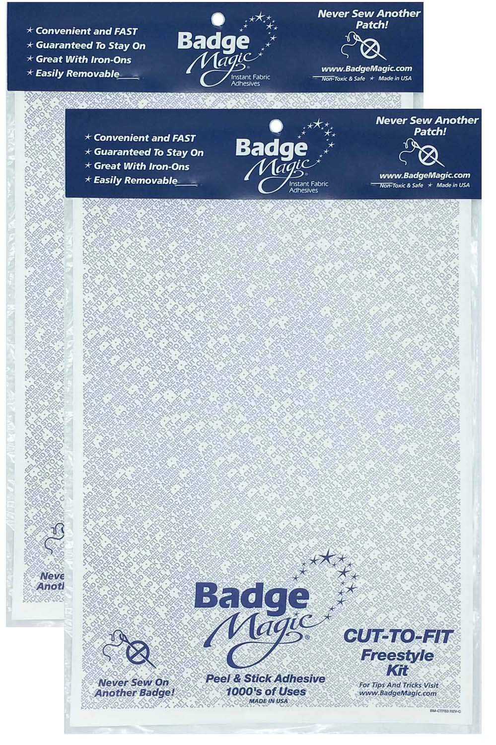 Badge Magic Cut to Fit Freestyle Patch Adhesive Kit (2-Pack) by Badge Magic