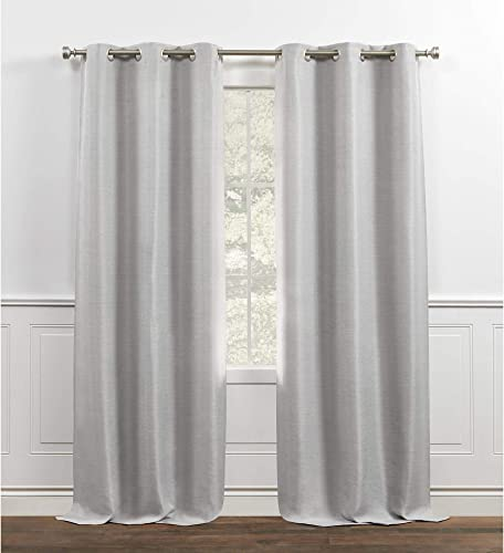 Chaps Melody Room Darkening Solid Textured Grommet Top Curtain Panels